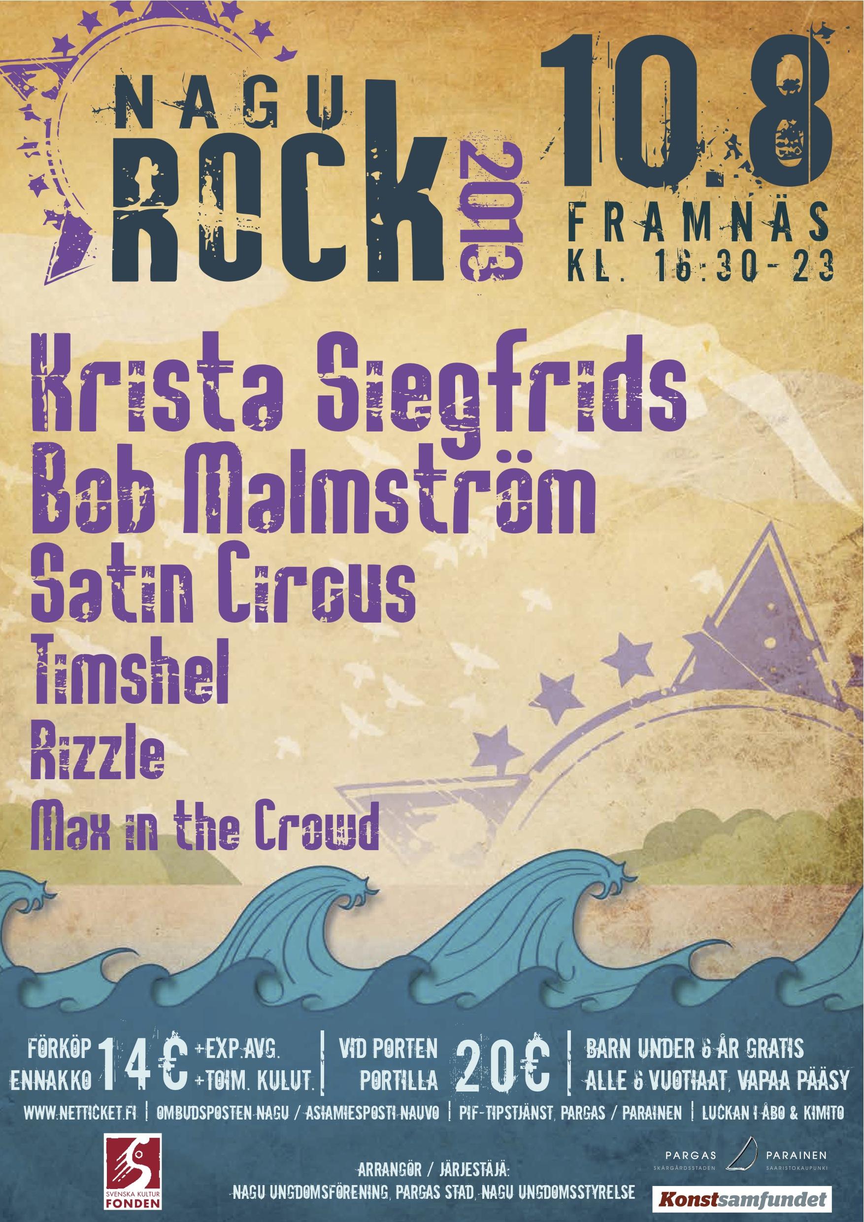 Nagu Rock 2013 – Poster